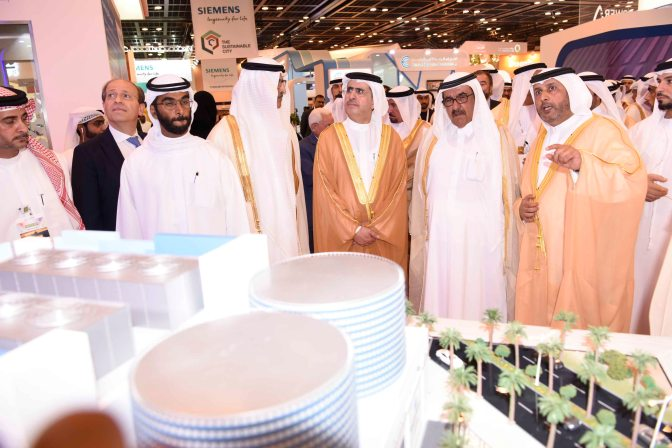 Empower highlights the latest district cooling systems to Sheikh Hamdan Bin Rashid Al Maktoum during his visit at WETEX
